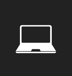 Laptop notebook flat icon pc symbol vector