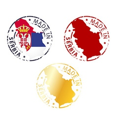 Made in serbia stamp vector