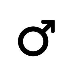 Male sign icon Internet button on white background vector image