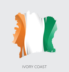 map of ivory coast vector image