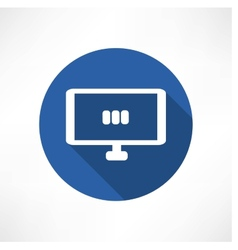 media set in the monitor icon vector image vector image