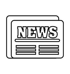 Newspaper flat isolated icon vector