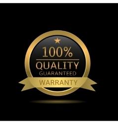 Quality guaranteed badge vector