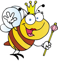 Queen Bee Cartoon Character vector image vector image