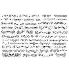 Set of vintage sketch elements vector image