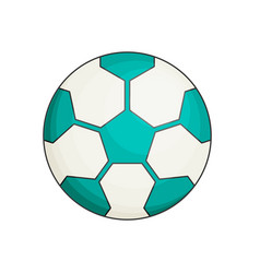 soccer ball flat vector image vector image