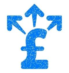Spend pound money grainy texture icon vector