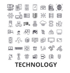technology computer it innovation science vector image vector image