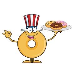 Uncle Sam Donut Cartoon vector image vector image