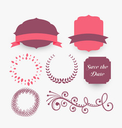 vintage decorative elements collection design vector image