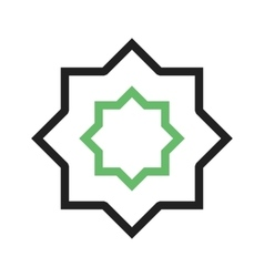 Islamic star vector