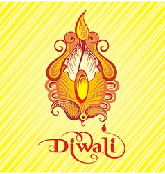 Festival of diwali celebration background vector image
