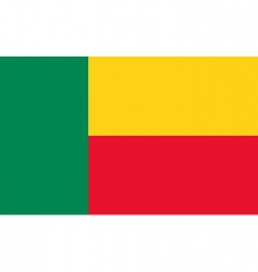 benin flag vector image