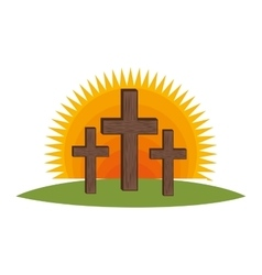cross religious symbol icon vector image