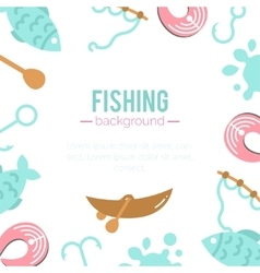 Fishing background paddles vector