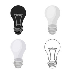 lightbulb icon in cartoon style isolated on white vector image