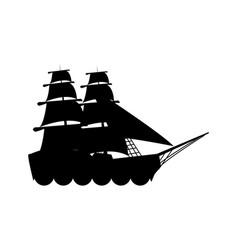 Silhouette ship vessel boat nautical vector