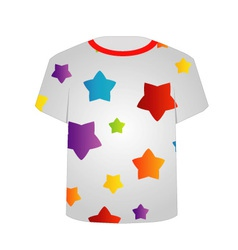T Shirt Template- Colorful stars vector image