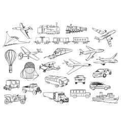 Transportation over the world set vector