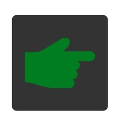 Index finger flat green and gray colors rounded vector