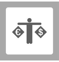 Currency compare icon vector