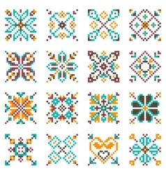 Ethnic national patterns vector image