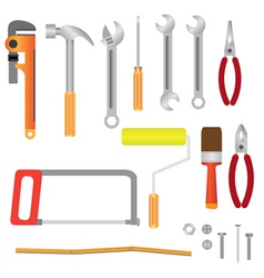 Set of instruments for renovation vector