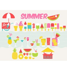 summer treats vector image
