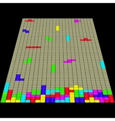 The old game Tetris 3D vector image