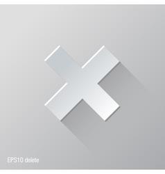 Delete flat icon design vector