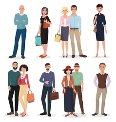 International people and couples with shopping vector