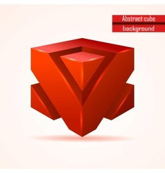 abstract red cube vector image