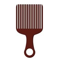 Afro hair comb icon vector