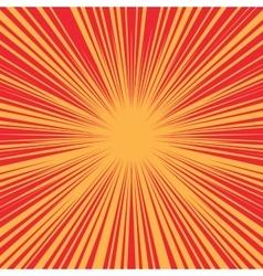 Bright burst background retro comic pop art vector