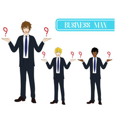 Business man selection with happy face vector