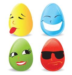 Cartoon eggs vector image vector image