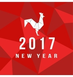 Chinese New Year of the Rooster 2017 vector image vector image