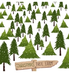 Christmas tree farm vector image vector image