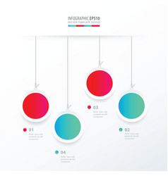 Circle hanging concept blue and pink color vector