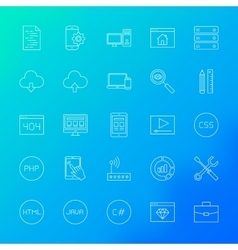 Coding Line Icons vector image vector image