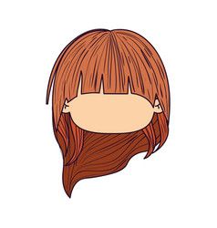 colorful caricature faceless front view cute girl vector image vector image