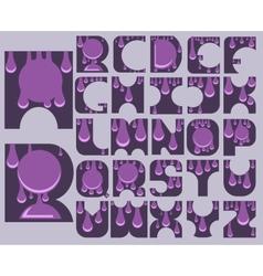 Complete alphabet vector