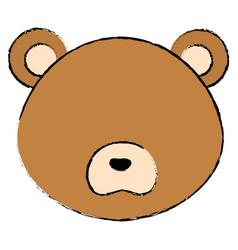 Cute and tender bear head character vector