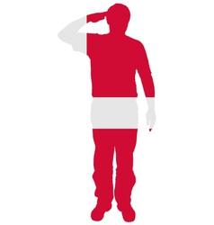 Danish Salute vector image vector image