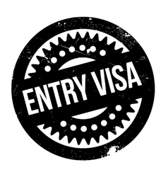 Entry visa rubber stamp vector