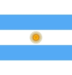 Flag of argentina in correct proportion and colors vector