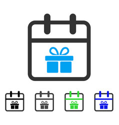 Gift day flat icon vector