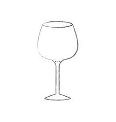 glass of champagne sour monochrome blurred vector image
