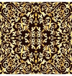 Golden baroque pattern vector image vector image