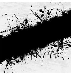 Grunge frame blots vector